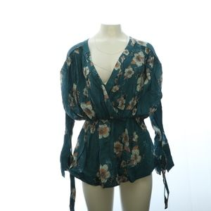Free People Womens Mini Dress XS Loose Floral